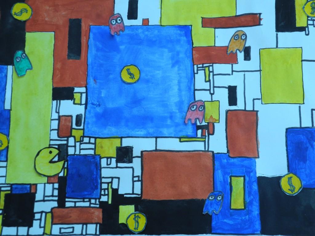WPK 6R: Piet Mondrian meets Pacman – (M)Ein Kunstcomputerspiel